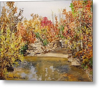 Mulberry River In Fall Metal Print by Sharon  De Vore