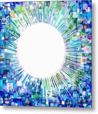 Multimedia Screen And Graphic Design Metal Print by Setsiri Silapasuwanchai
