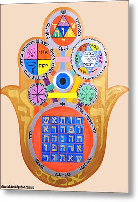 Multiple Solomaic Amulets Metal Print by Darren Stein