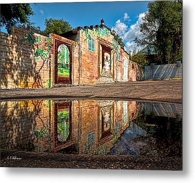 Mural Reflected Metal Print by Christopher Holmes