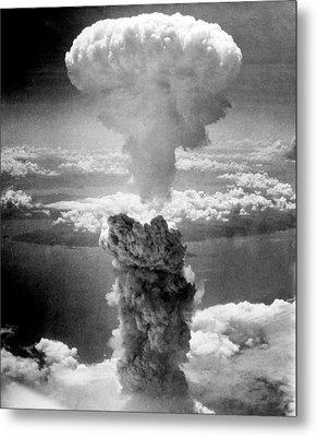 Mushroom Cloud Over Nagasaki  Metal Print by War Is Hell Store