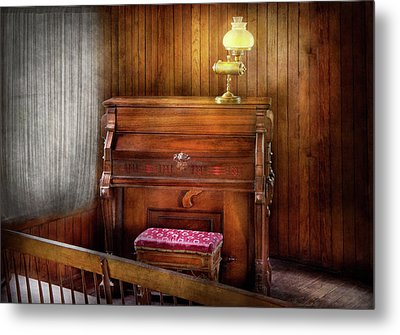 Music - Organist - A Vital Organ Metal Print by Mike Savad