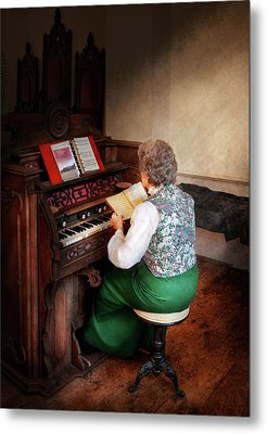 Music - Organist - The Lord Is My Shepherd  Metal Print by Mike Savad