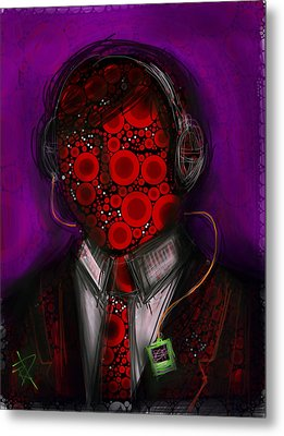 Music Lover Metal Print by Russell Pierce