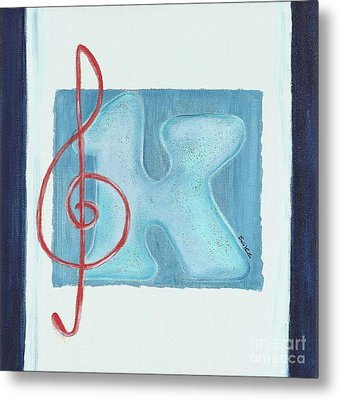 Music Note Metal Print by Celebratta Celebratta