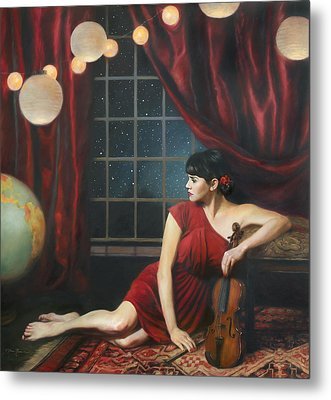 Music Of The Spheres Metal Print by Anna Rose Bain