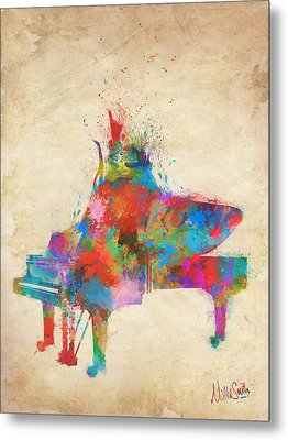 Music Strikes Fire From The Heart Metal Print by Nikki Marie Smith