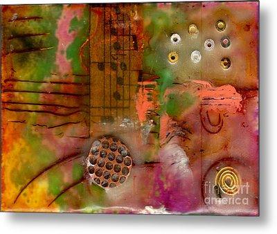 Musical Notes Metal Print by Angela L Walker