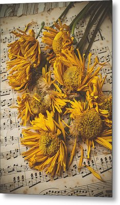 Musical Sunflowers Metal Print by Garry Gay