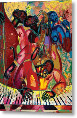 Musicfest Metal Print by Larry Poncho Brown
