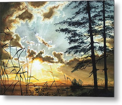 Muskoka Dawn Metal Print by Hanne Lore Koehler