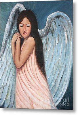 My Angel In Blue Metal Print by Sonia Flores Ruiz