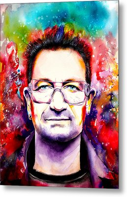 My Colors For Bono Metal Print by Isabel Salvador