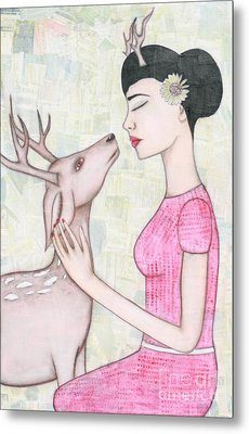 My Deer Metal Print by Natalie Briney