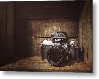 My First Nikon Camera Metal Print by Scott Norris