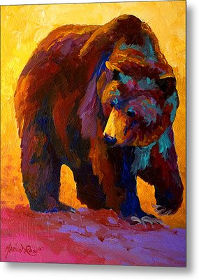 My Fish - Grizzly Bear Metal Print by Marion Rose
