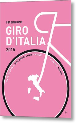 My Giro D'italia Minimal Poster 2015 Metal Print by Chungkong Art