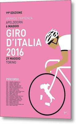 My Giro Ditalia Minimal Poster 2016 Metal Print by Chungkong Art