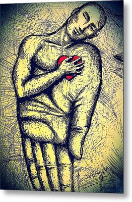 My Heart In Your Hand Metal Print by Paulo Zerbato