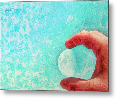 My Little Moon - Da Metal Print by Leonardo Digenio