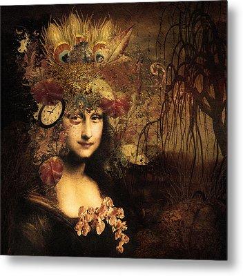 My Little Secret - Mona Lisa Metal Print by Georgiana Romanovna