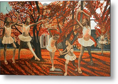 My Spirit Rises In Fall Metal Print by Amira Najah Whitfield