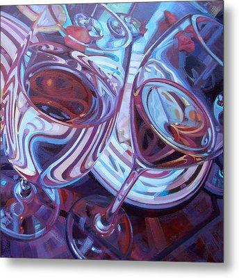 My Swanson Swirls Metal Print by Penelope Moore