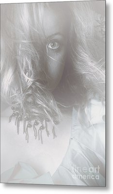 Mysterious Fine Art Fantasy Woman In Forest Mist Metal Print by Jorgo Photography - Wall Art Gallery