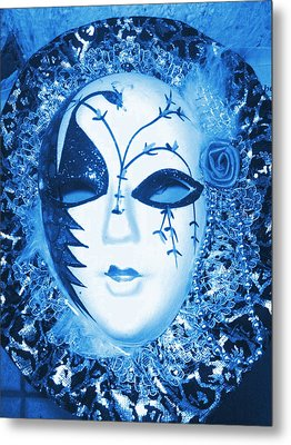Mysterious Mask Metal Print by Anne-Elizabeth Whiteway