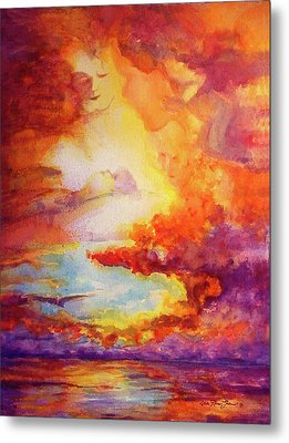 Mystical Sunset Metal Print by Estela Robles