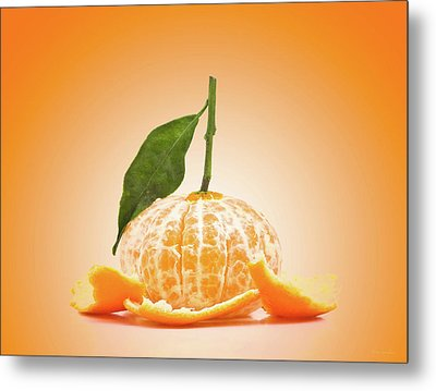 Naked Orange Metal Print by Wim Lanclus