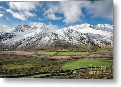 Nant Ffrancon Winter Metal Print by Adrian Evans