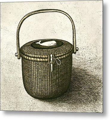 Nantucket Basket Metal Print by Charles Harden