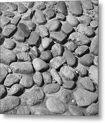 Nantucket Cobblestones Metal Print by Charles Harden