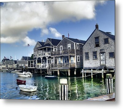 Nantucket Harbor In Summer Metal Print by Tammy Wetzel