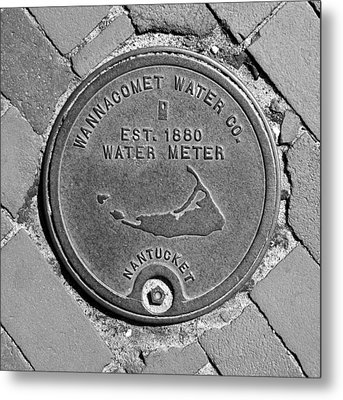 Nantucket Water Meter Cover Metal Print by Charles Harden
