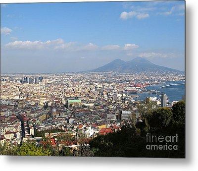 Naples Panoramic View Metal Print by Kiril Stanchev
