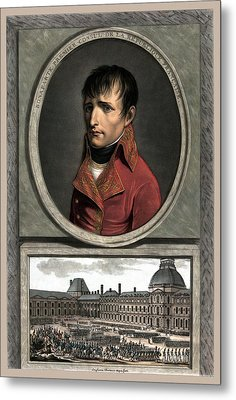 Napoleon Bonaparte And Troop Review Metal Print by War Is Hell Store