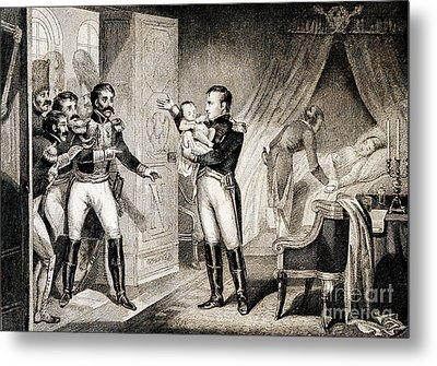 Napoleon I Presenting Newborn Son, 1811 Metal Print by Wellcome Images