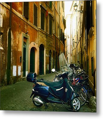 narrow streets in Rome Metal Print by Joana Kruse