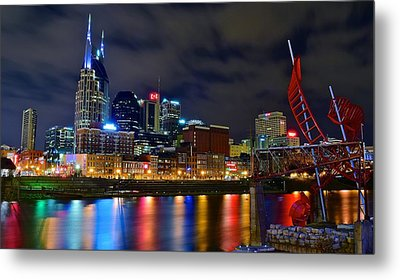 Nashville After Dark Metal Print by Frozen in Time Fine Art Photography