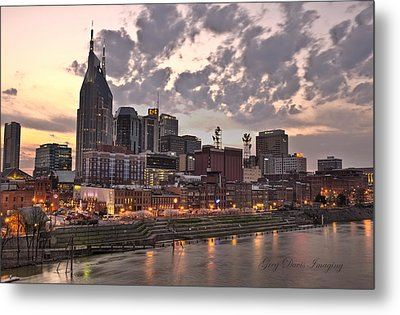 Nashville At Dusk Metal Print by Greg Davis