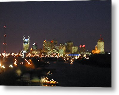 Nashville At Sixty Five Mph Metal Print by Mark Currier