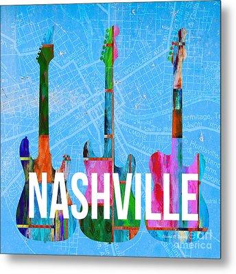 Nashville Guitars Metal Print by Edward Fielding