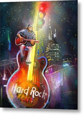 Nashville Nights 01 Metal Print by Miki De Goodaboom
