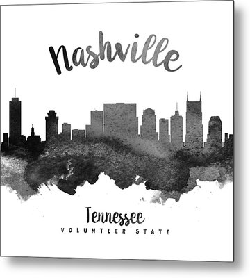 Nashville Tennessee Skyline 18 Metal Print by Aged Pixel