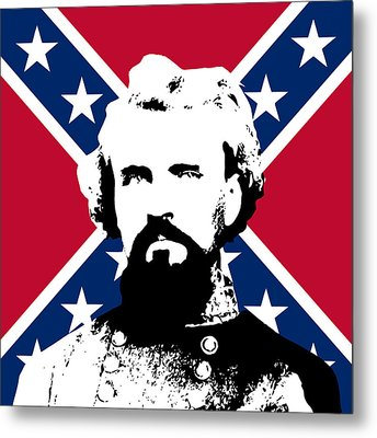 Nathan Bedford Forrest And The Rebel Flag Metal Print by War Is Hell Store