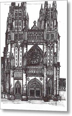 National Cathedral Metal Print by Theresa Mozinski