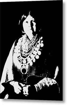 Native American 21 Curtis Metal Print by David Bridburg