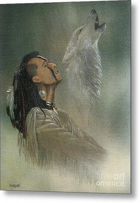 Native American Indian Metal Print by Morgan Fitzsimons